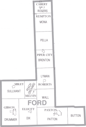 Ford County, Illinois - Map of Ford County