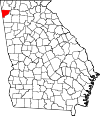 Map of Georgia highlighting Chattooga County.svg