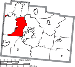 Location of Beavercreek Township in Greene County