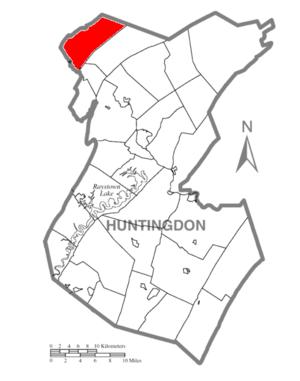 Warriors Mark Township, Huntingdon County, Pennsylvania - Image: Map of Huntingdon County, Pennsylvania Highlighting Warriors Mark Township