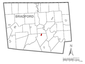 Map of Monroe, Bradford County, Pennsylvania Highlighted.png
