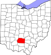 State map highlighting Ross County