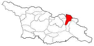 Pkhovi - Location of Pkhovi in modern-day Georgia