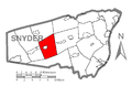 Map of Snyder County, Pennsylvania Highlighting Beaver Township.PNG