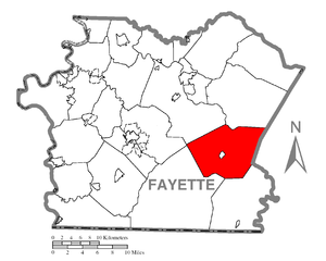 Stewart Township, Fayette County, Pennsylvania - Image: Map of Stewart Township, Fayette County, Pennsylvania Highlighted