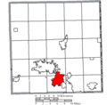 Map of Trumbull County Ohio Highlighting Niles City.png