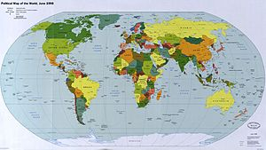 Political map of the world, June 1998