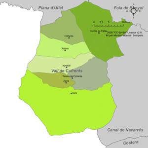 Valle de Cofrentes - Municipalities of Valle de Cofrentes