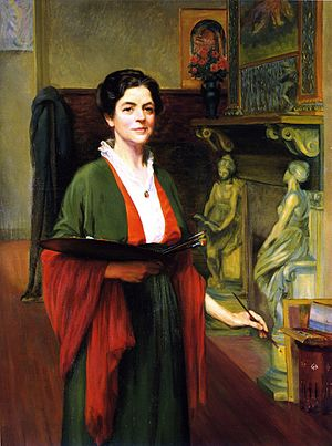 Margaret Lesley Bush-Brown - Self-Portrait, 1914, oil on canvas, in the collection of the Pennsylvania Academy of the Fine Arts