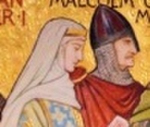 David I of Scotland - King Malcolm and Queen Margaret, David's parents.