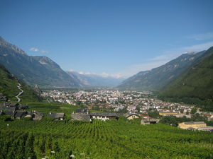 Martigny - Martigny and surrounding fields