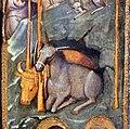 Maso di banco, maestà e santi, natività e crocifissione, 1335-50 ca. 07 bue e asinello.jpg