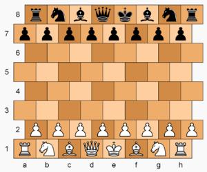 Masonic Chess - Masonic Chess gameboard and starting position