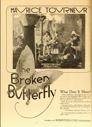 The Broken Butterfly - Image: Maurice Tourneur The Broken Butterfly 3 Film Daily 1919