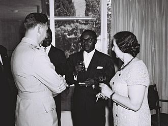 Maurice Yaméogo - Yaméogo meets Golda Meir during his visit to Israel in 1961