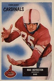 Max Boydston American and Canadian football player