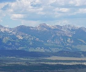 A photo of McDonald Peak from Galena Summit