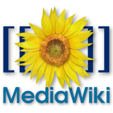 Logo wiki open source software Media Wiki