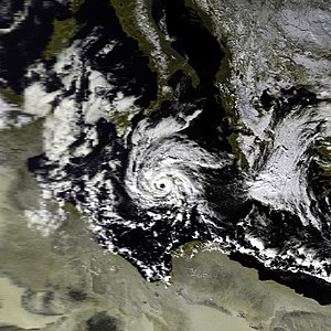 Mediterranean tropical-like cyclone - Satellite imagery of a well-documented Mediterranean tropical-like cyclone on 16 January 1995