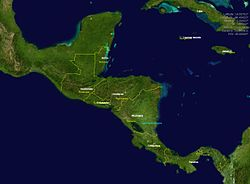 kart mellom amerika Mellom Amerika – Wikipedia kart mellom amerika