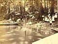Men, women and children gathered for an outing in Ravenna Park, showing a small man-made fountain, Seattle, Washington, ca 1889 (BOYD+BRAAS 60).jpg