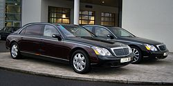 Maybach 62 (li.) und Maybach 57 (re.)