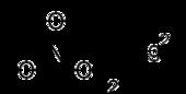 Strukturformel von Quecksilber(II)-nitrat
