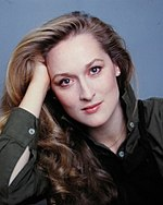 Photo of Meryl Streep in the late 1970s.