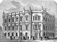 Столичное управление работ в Весеннем саду 1860 ILN.jpg