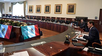 Cabinet of Mexico - Meeting of the cabinet of Mexican President Enrique Peña Nieto