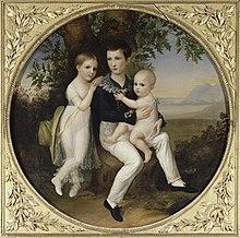 Die Kinder von Jérôme Bonaparte, Porträt von Michel Ghislain Stapleaux, Palais Fesch in Ajaccio (Quelle: Wikimedia)