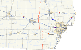 M-52 runs north–south in southeastern Michigan west of Detroit