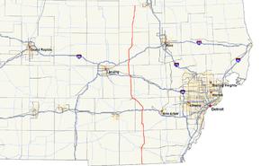 M-52 (Michigan highway) - Image: Michigan 52 map