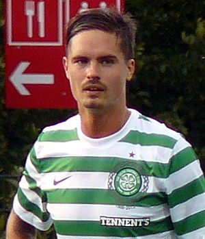 Mikael Lustig - Lustig playing for Celtic in 2012