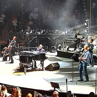 Billy Joel - Billy Joel with his band performing in California