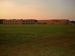 Miller Place High School - View of the school from its athletic fields
