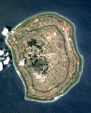 Daitō Islands - Image: Minami Daito Jima ISS002