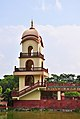 Minaret of Samadhi Mandir of Srila Prabhupada, Mayapur 07102013.jpg