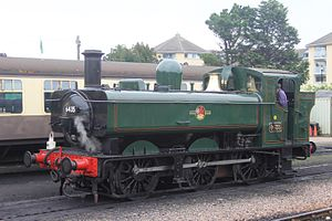 GWR 6400 Class - Image: Minehead 6435 going to shed