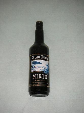 Mirto (liqueur) - Bottled Sardinian Mirto