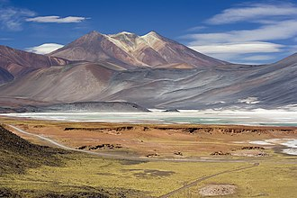 Central Andean dry puna - Image: Miscanti Lagoon near San Pedro de Atacama Chile Luca Galuzzi 2006