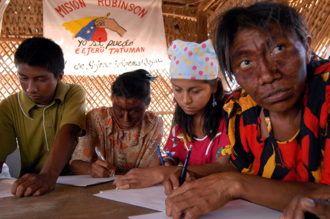Mission Robinson - Mission Robinson of the Hugo Chavez government in Venezuela promoting the education of the Wayuu