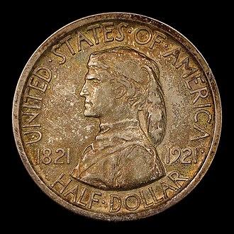 Missouri Centennial half dollar - Image: Missouri Centennial half dollar obverse