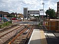 Mitcham Eastfields stn northbound look south gates closed.JPG