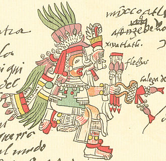 Mixcoatl - Mixcoatl as depicted in the Codex Telleriano-Remensis.