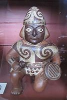 Moche warrior pot at the British Museum.jpg