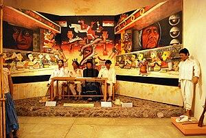 Huajuapan de León - Model of a traditional Mixtec village council at the Regional Museum