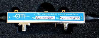 Electro-optic modulator - An optical intensity modulator for optical telecommunications