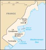 Χάρτης του Μονακό