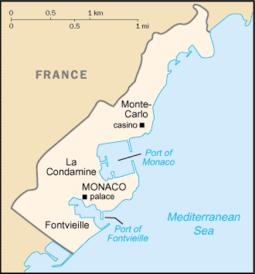 Map Of Monaco Outline of Monaco   Wikipedia